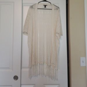 Short sleeve lace cardigan